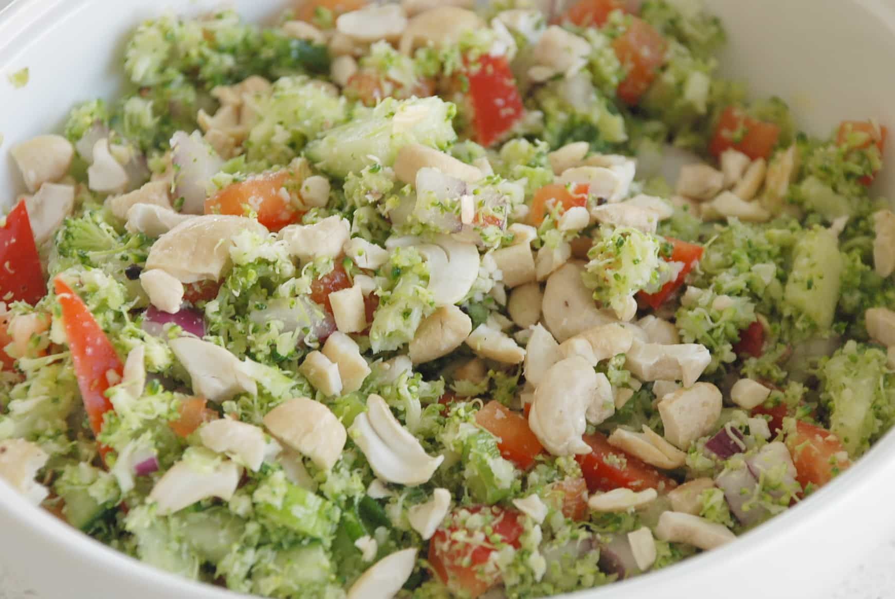 brocolli and cashew salad