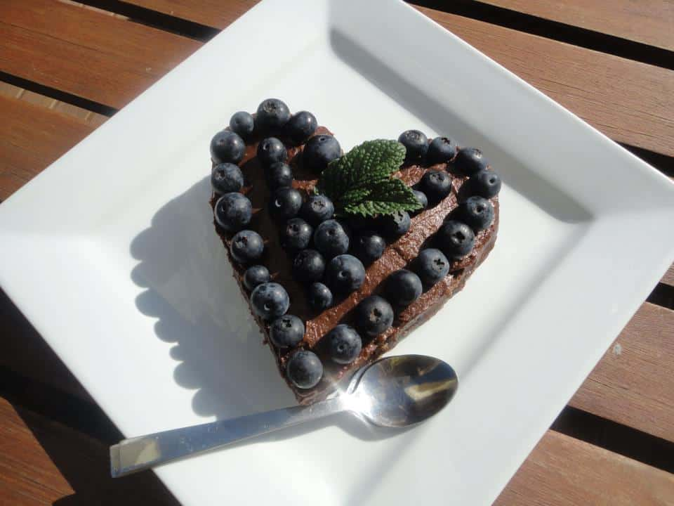 valentines day raw cacao cake