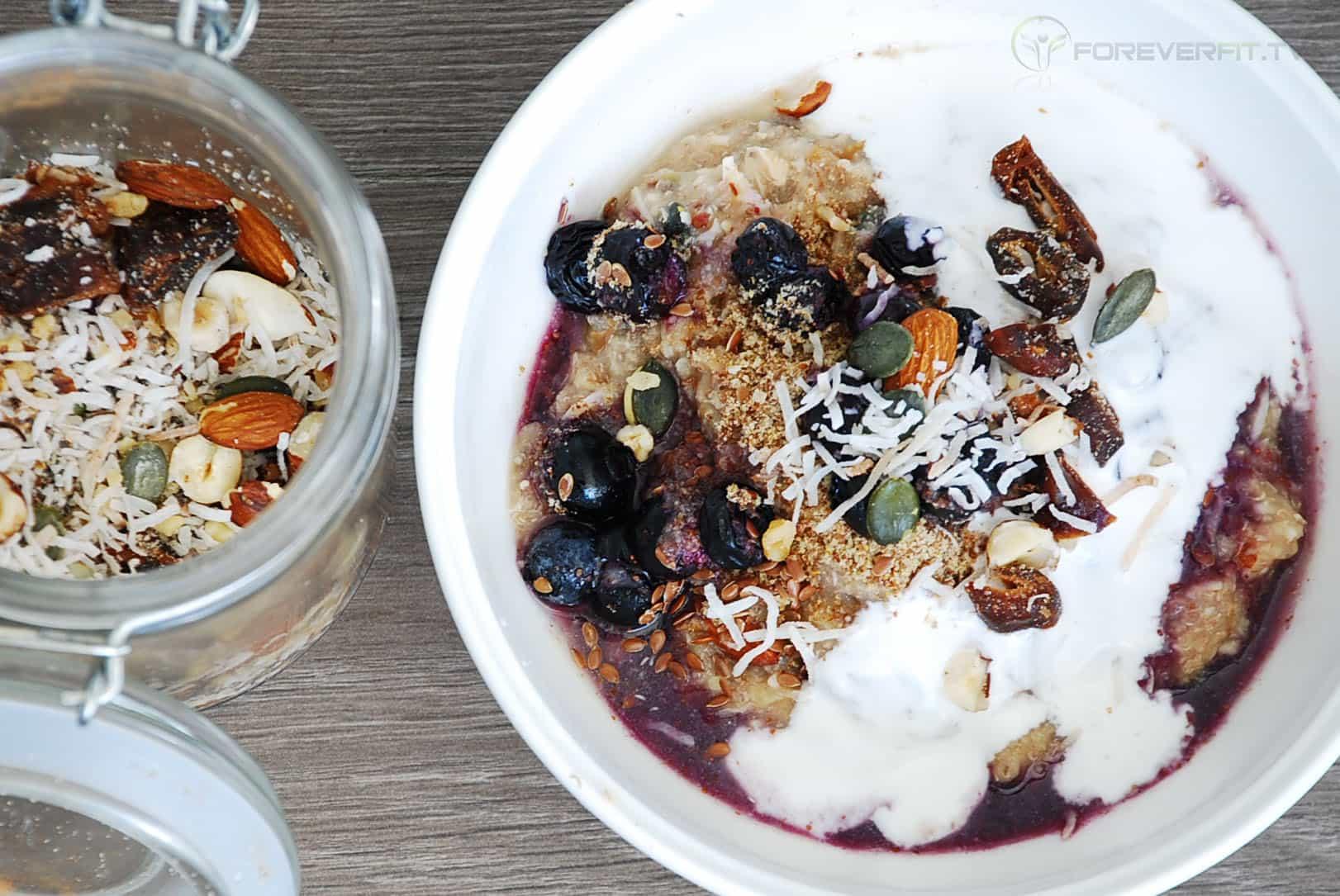 quinoa flake porridge