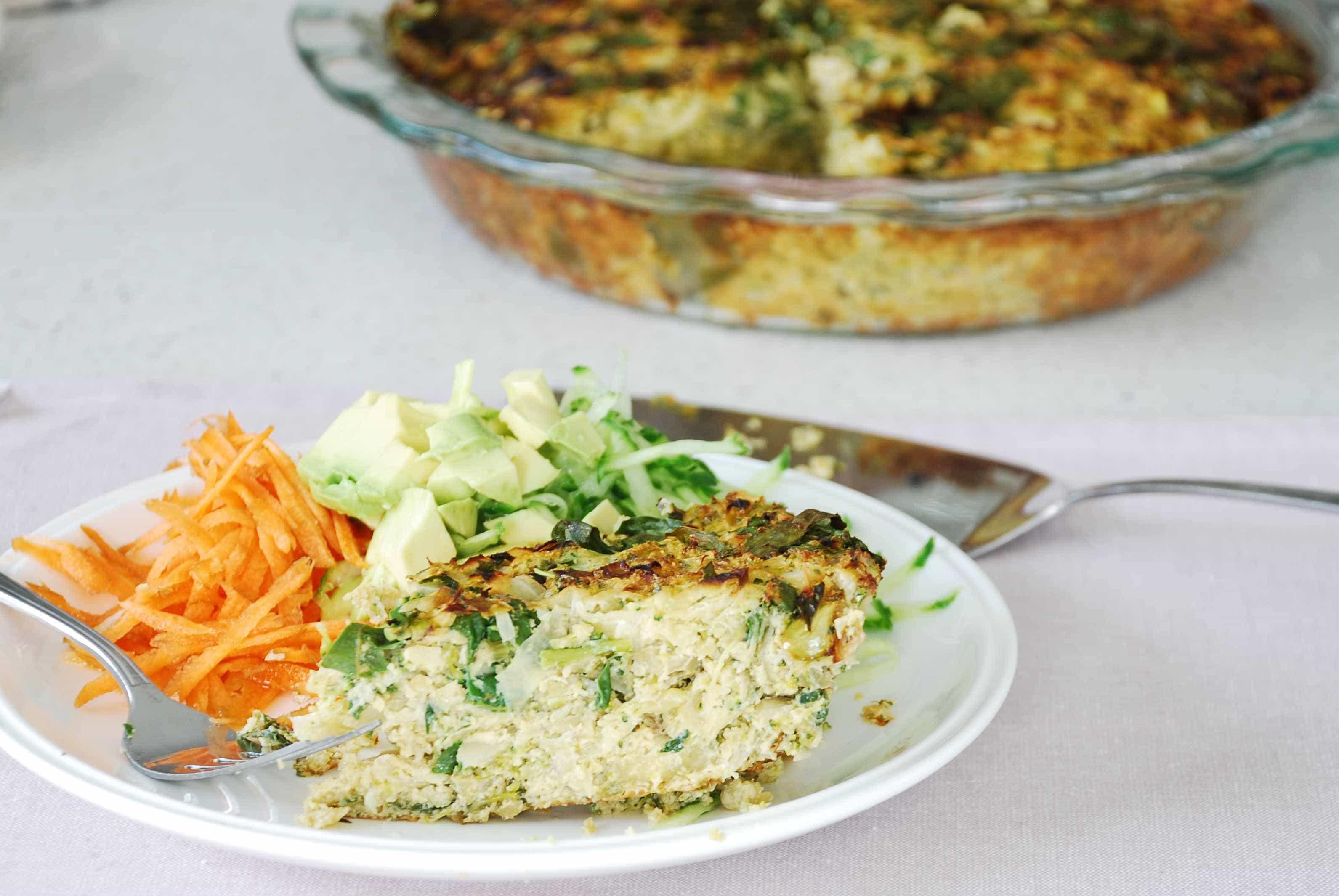 Broccolli and Cabbage Quiche 3