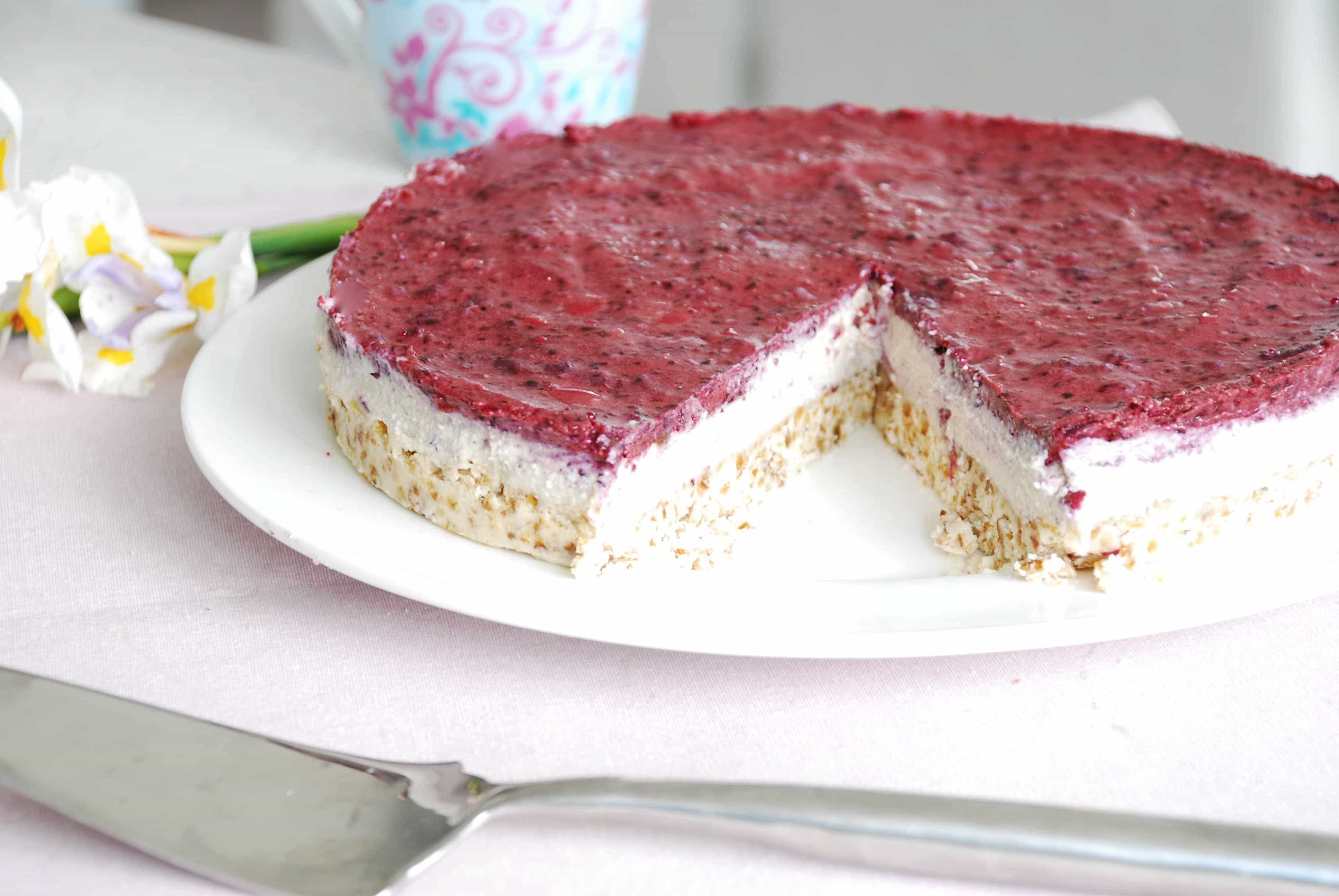 Blue Berry cashew cheese cake2