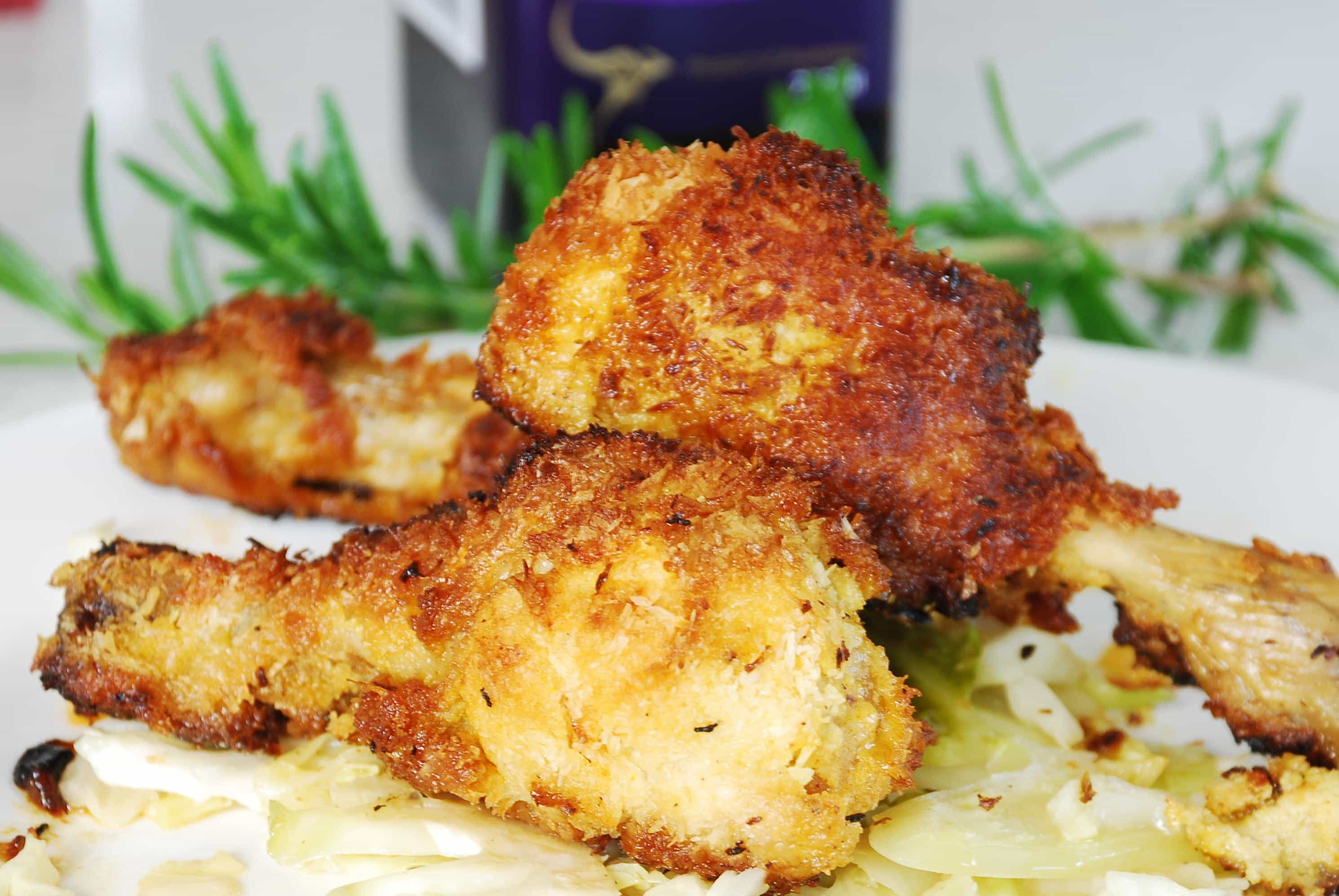 ... Recipes Crispy Crumbed Chicken Drumsticks With Ginger Chilli Dressing