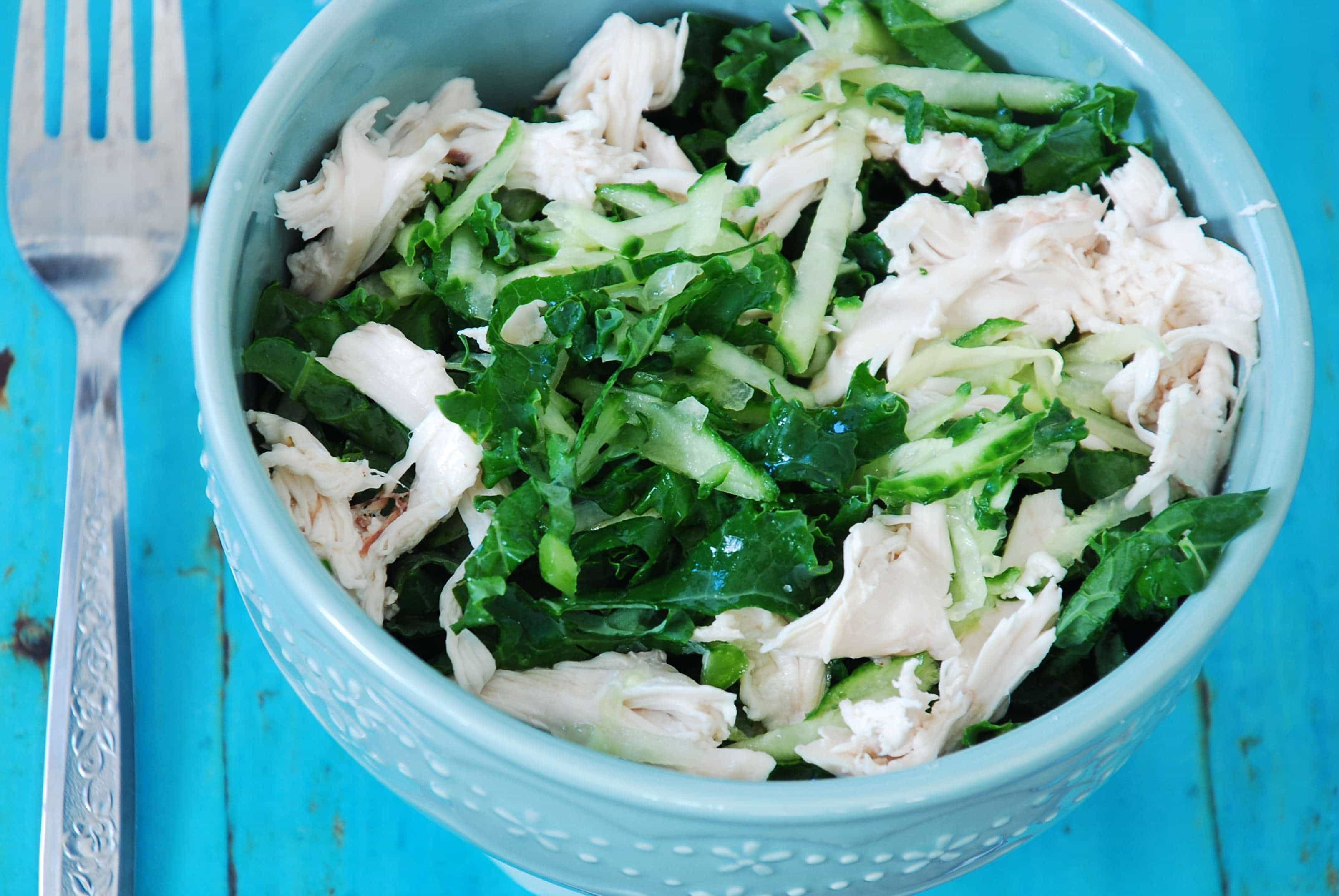 Kale And Cucumber Chicken Salad