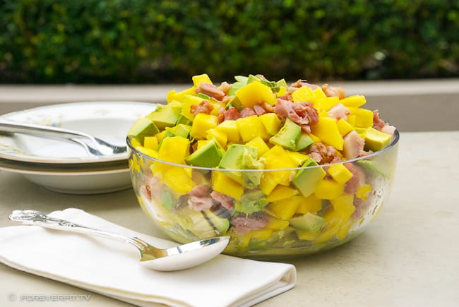 Mango, bacon and avocado Salad-2