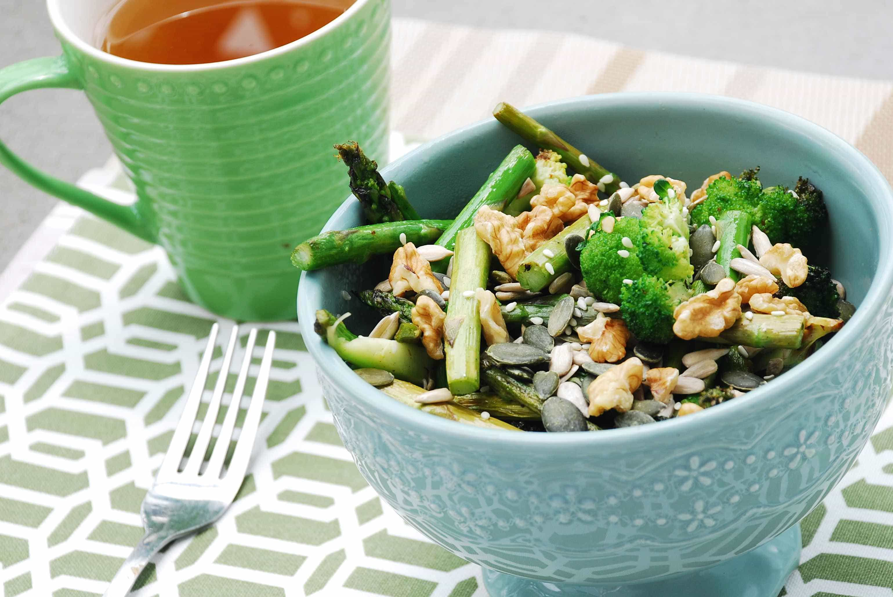 brocolli and asparagus salad