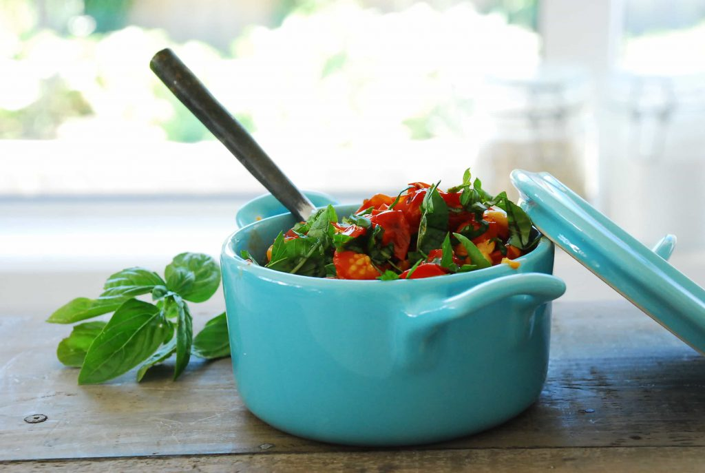 Roasted Cherry Tomatoes With Garlic And Basil
