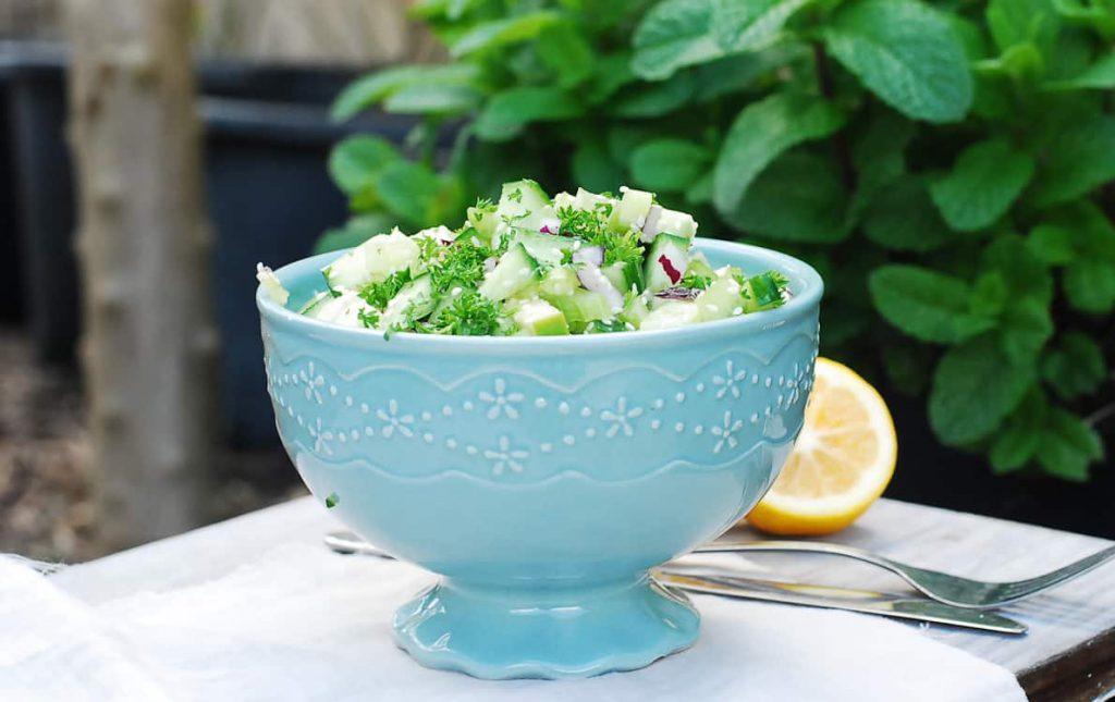 Celery and cucumber salad-3