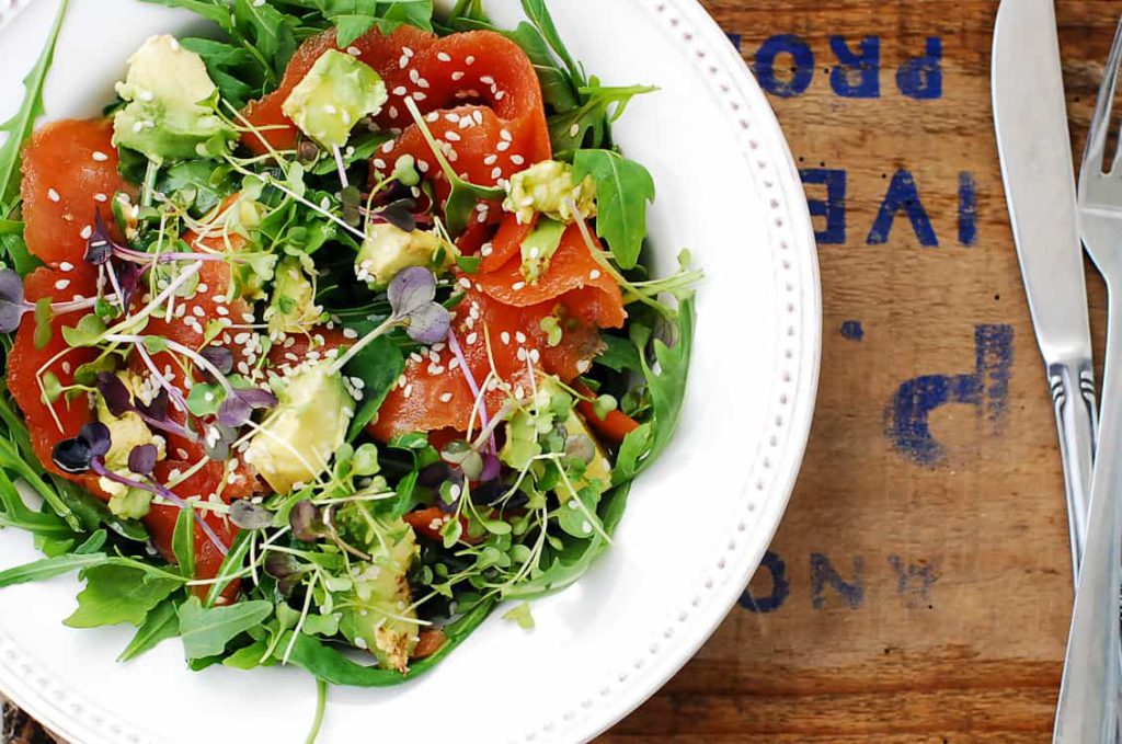 Salmon and rocket salad-3-2