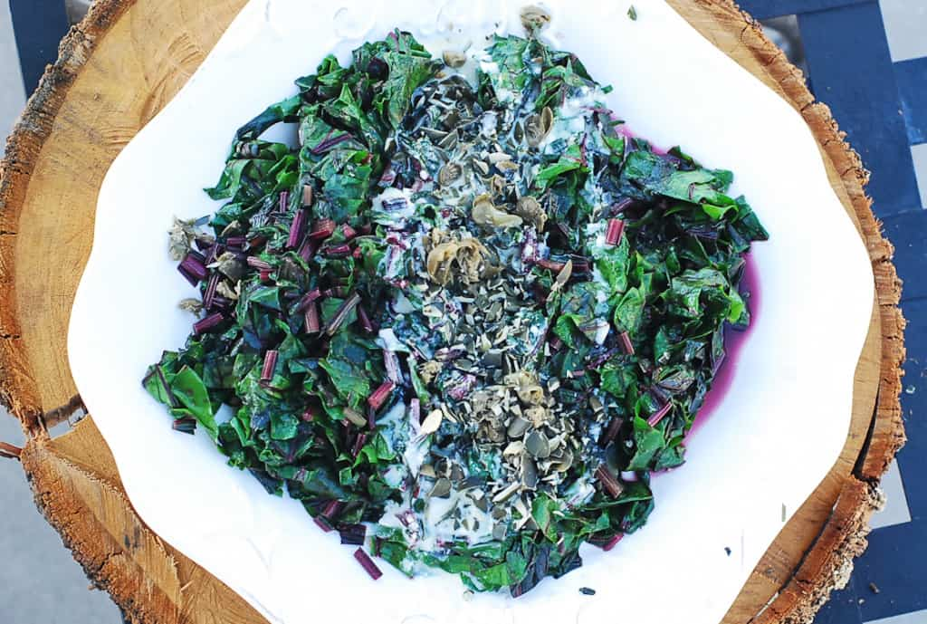 Beet-greens-with-citrus-yogurt-dresssing-2-1024x689