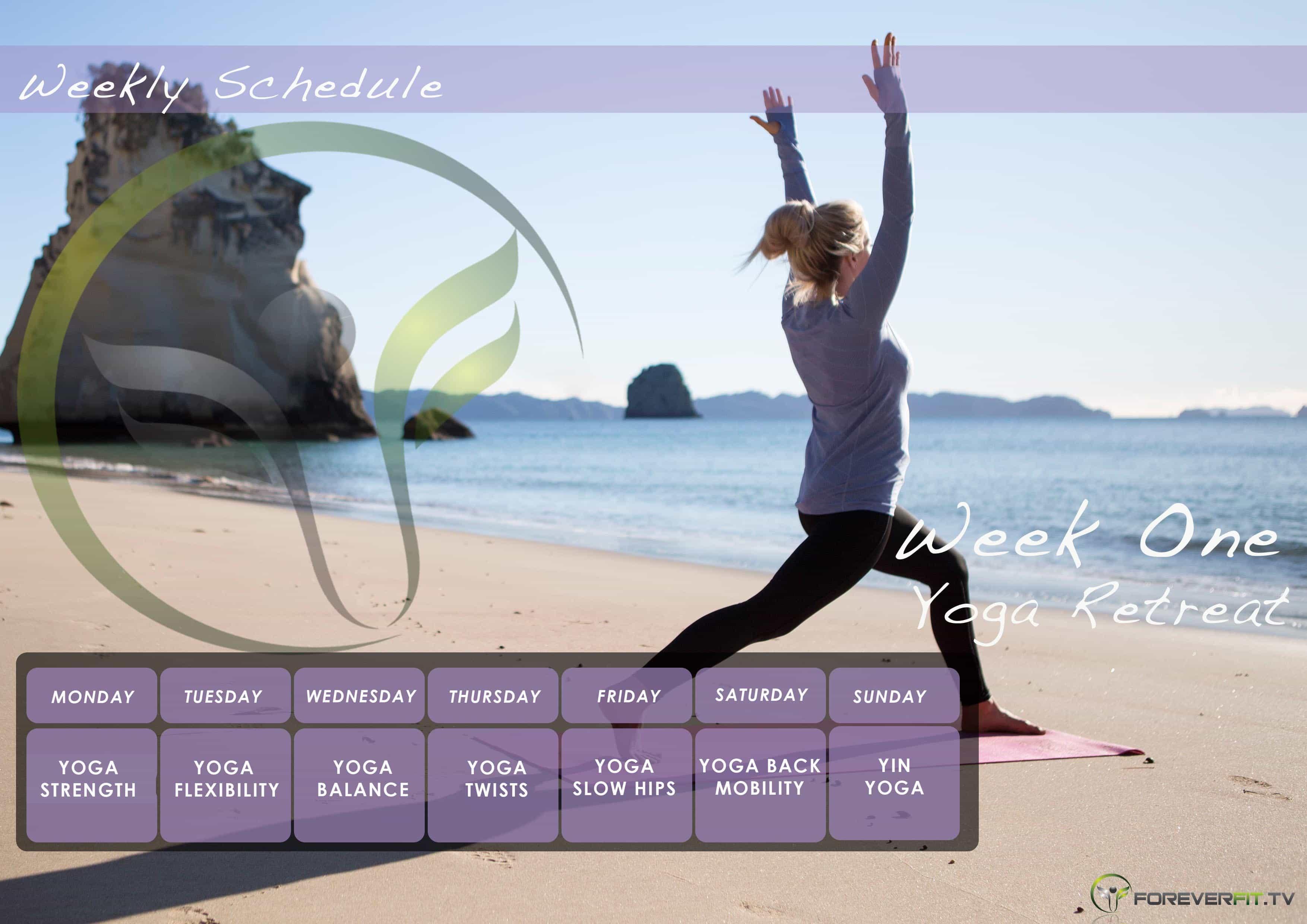 Week 1 yoga plan