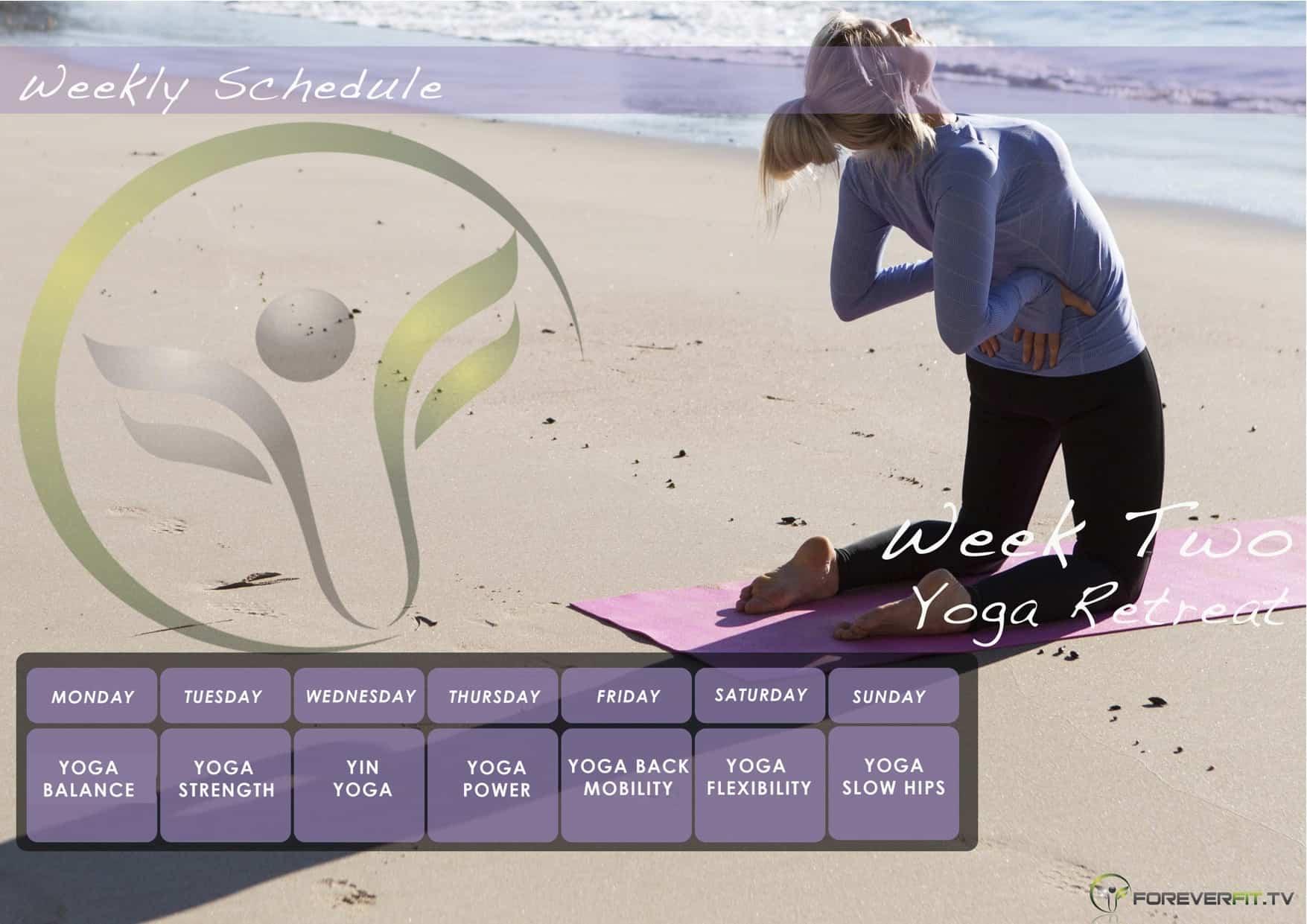 Week 2 yoga plan