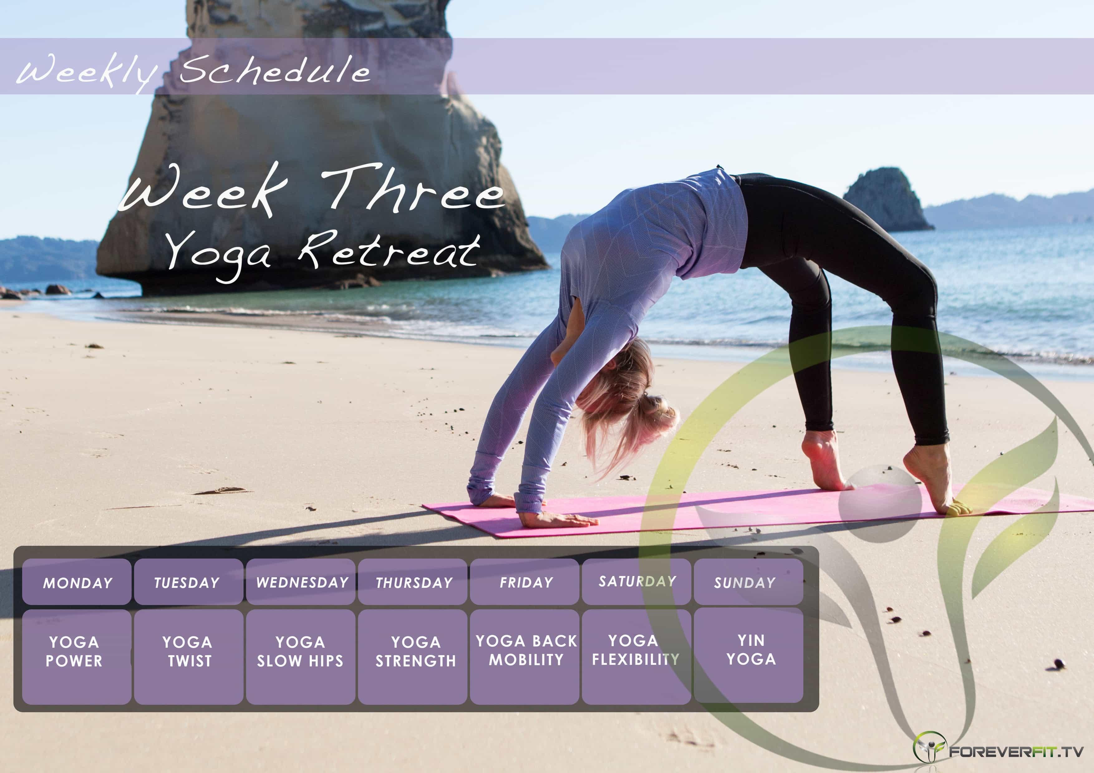 Week 3 yoga plan