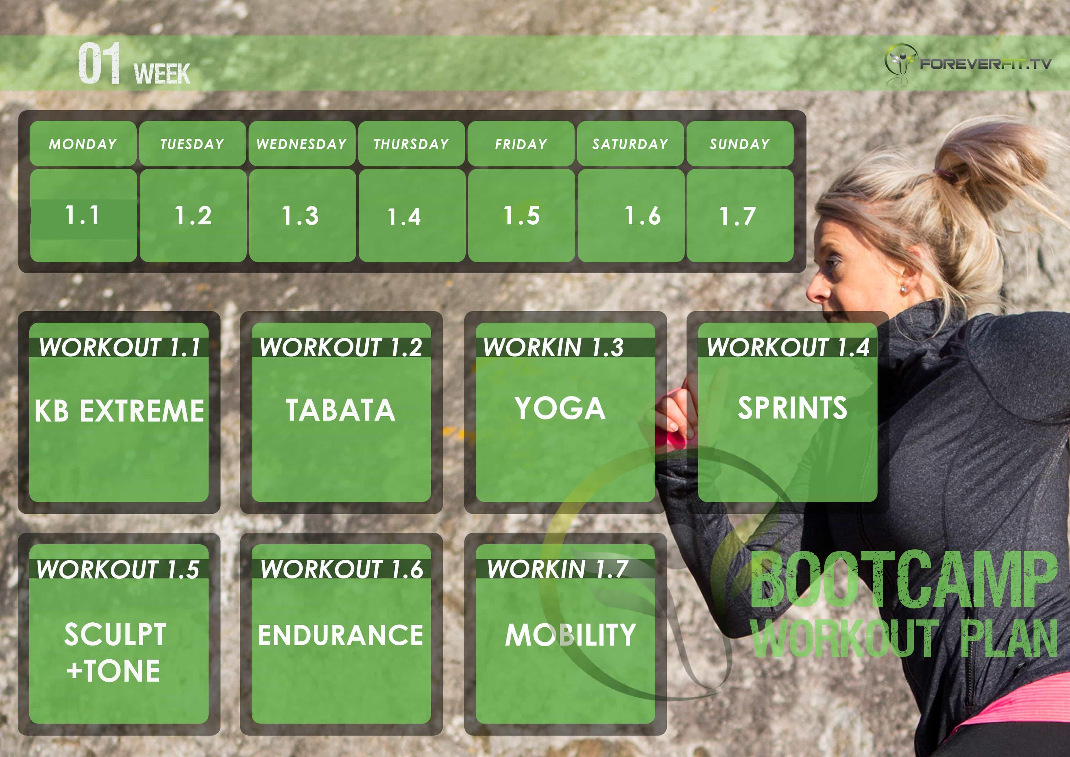 workout plan week 1 Fb