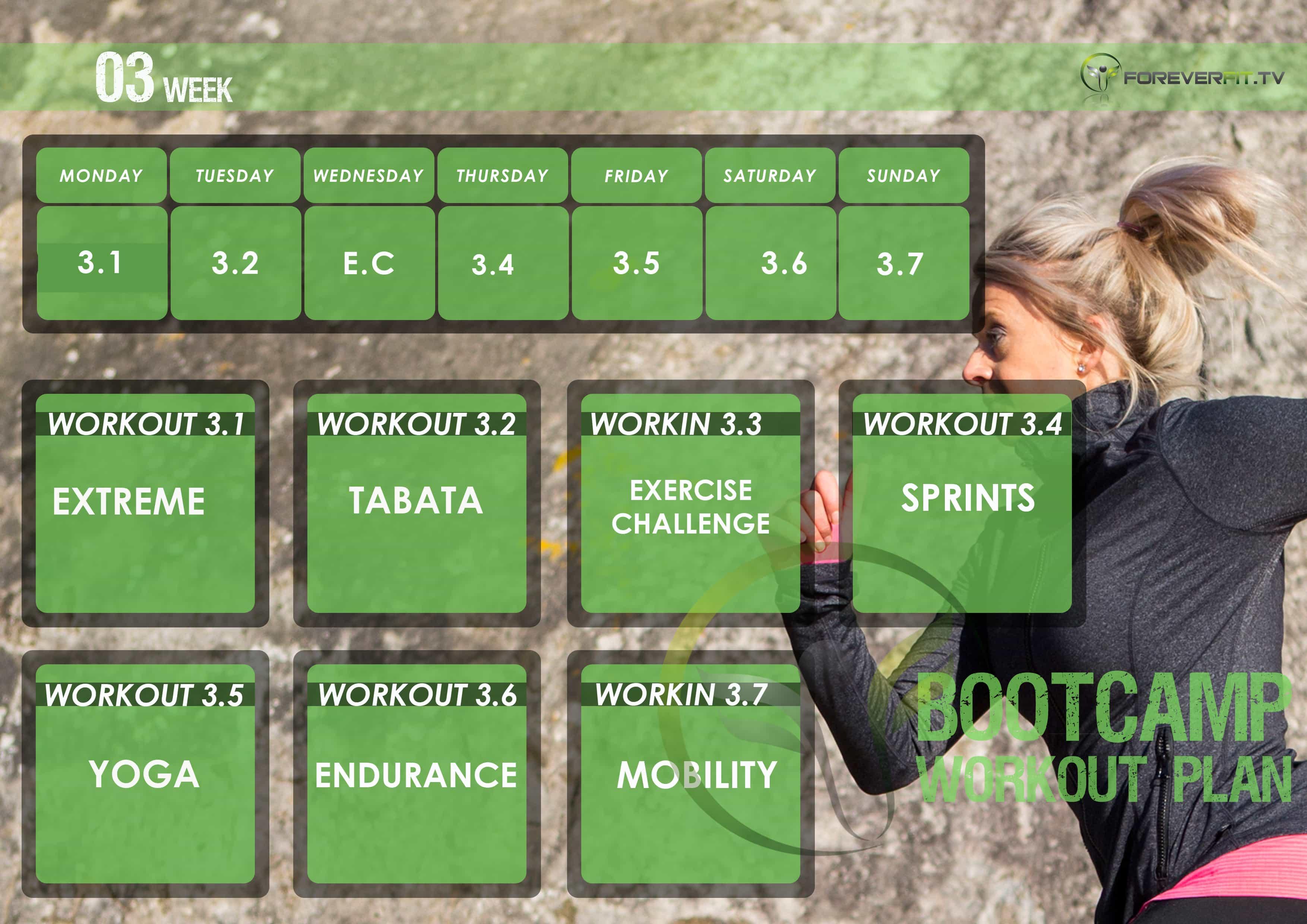 workout plan week 3