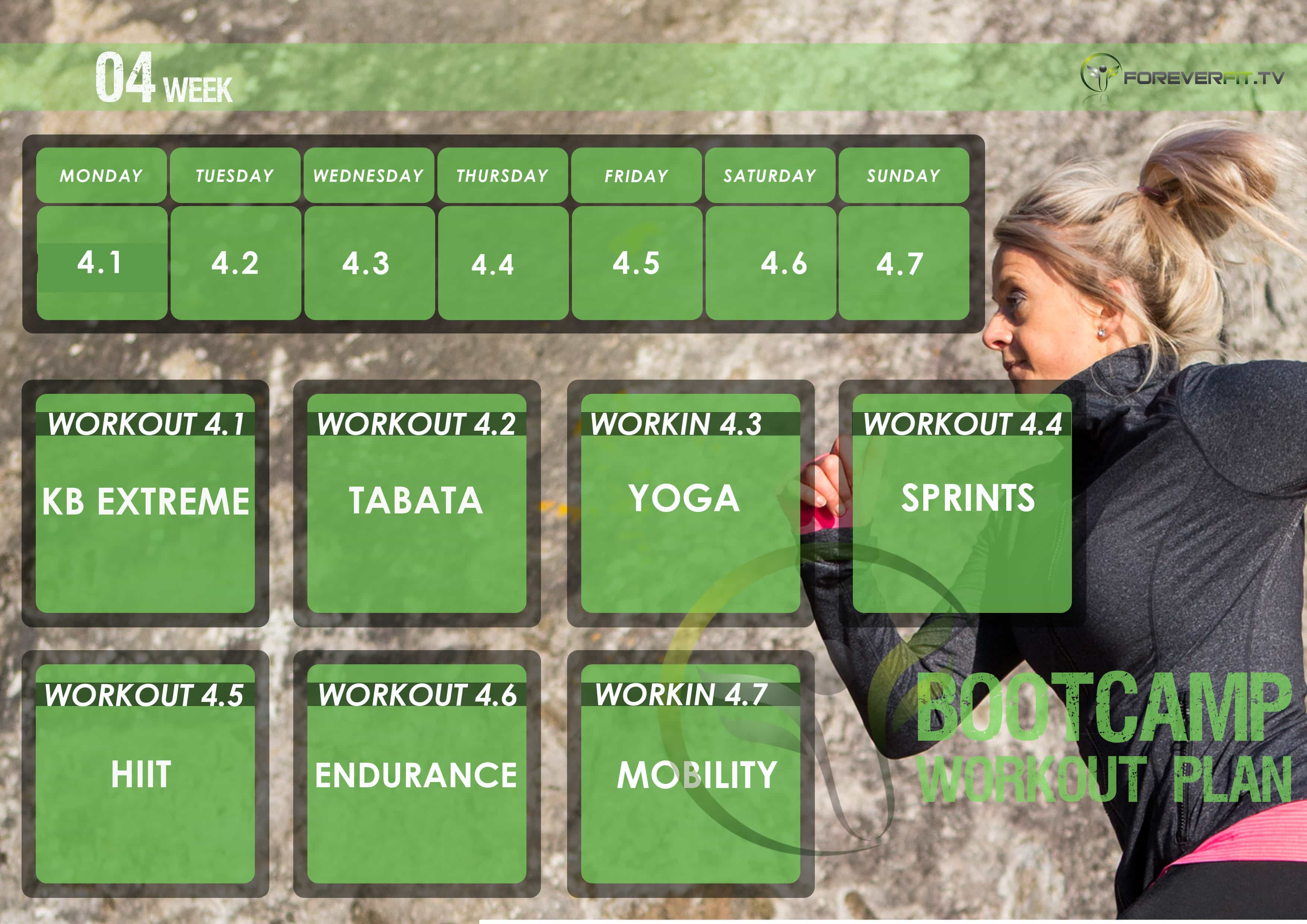 workout plan week 4