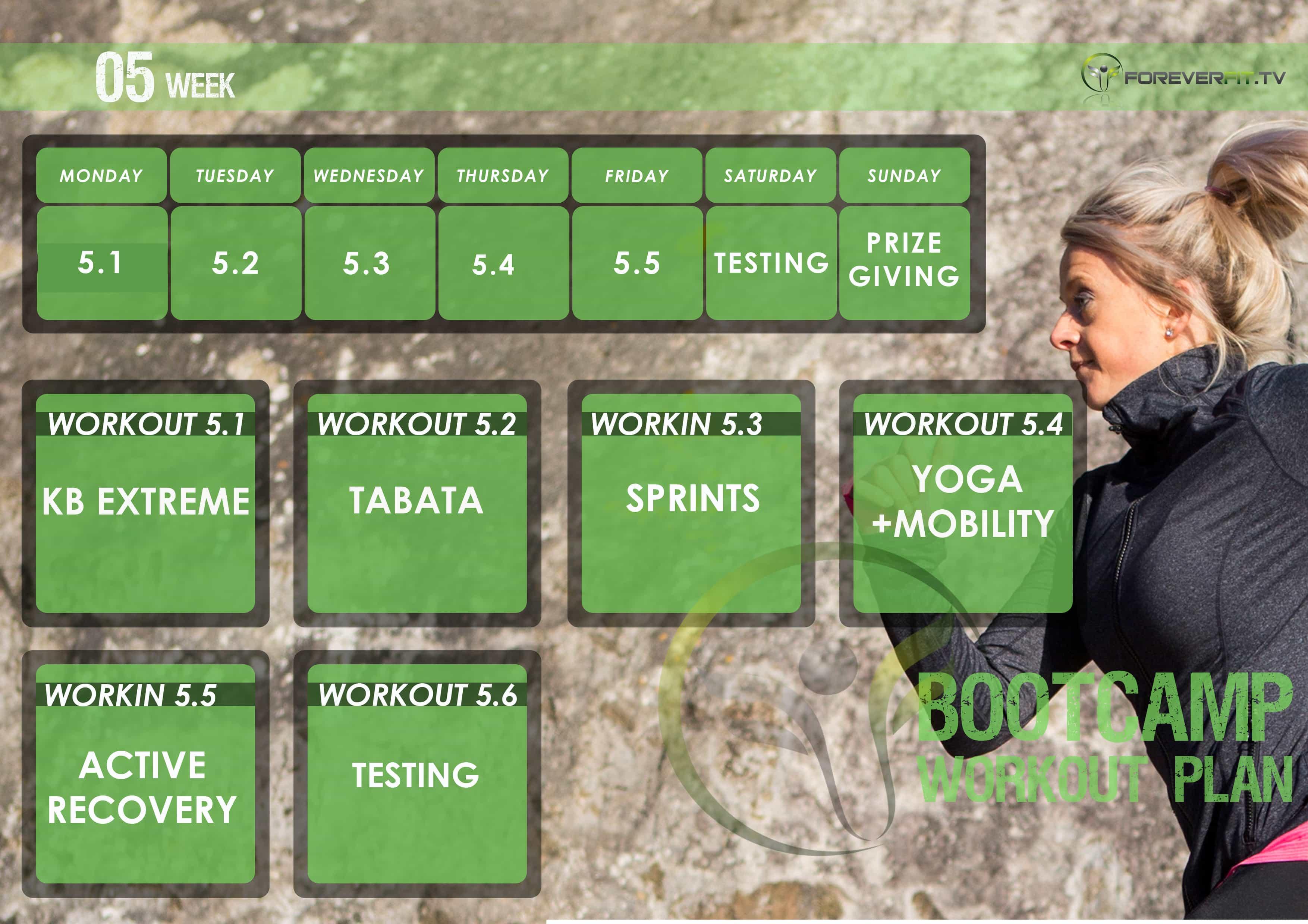 workout plan week 5