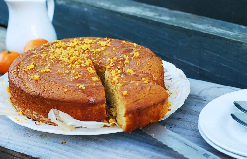 Mandarin Almond Cake-3